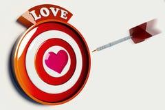 στόχος αγάπης Στοκ φωτογραφία με δικαίωμα ελεύθερης χρήσης