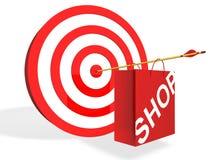 στόχος αγοράς Στοκ εικόνα με δικαίωμα ελεύθερης χρήσης