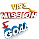 Στόχος αποστολής οράματος απεικόνιση αποθεμάτων