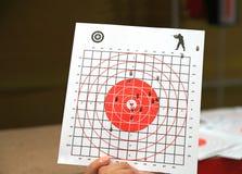 Στόχος εγγράφου για το πυροβολισμό Στοκ φωτογραφίες με δικαίωμα ελεύθερης χρήσης
