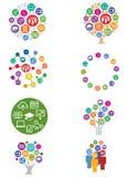 Στόχος εικονιδίων της ψηφιακών αγοράς και της τελειότητας στους στόχους στοκ φωτογραφίες