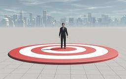 Στόχος επιχειρηματιών Αυτό είναι ένα τρισδιάστατο δίνει ελεύθερη απεικόνιση δικαιώματος