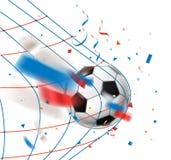 στόχος καθαρό ποδόσφαιρο στόχο&upsil Παγκόσμιος ανταγωνισμός Στοκ εικόνες με δικαίωμα ελεύθερης χρήσης