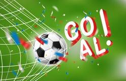 στόχος καθαρό ποδόσφαιρο στόχο&upsil Παγκόσμιος ανταγωνισμός Στοκ φωτογραφία με δικαίωμα ελεύθερης χρήσης