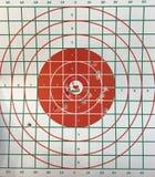 Στόχος ματιών του Bull με τη τρύπα από σφαίρα στοκ φωτογραφίες με δικαίωμα ελεύθερης χρήσης