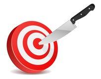 στόχος μαχαιριών Στοκ Εικόνες