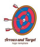 Στόχος με το πρότυπο λογότυπων βελών Στοκ εικόνες με δικαίωμα ελεύθερης χρήσης