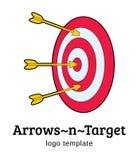 Στόχος με το πρότυπο λογότυπων βελών Στοκ εικόνα με δικαίωμα ελεύθερης χρήσης