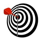 στόχος Στόχος Πλήρης-2 Κόκκινα βέλη στο κέντρο Άσπρος τόνος διανυσματική απεικόνιση