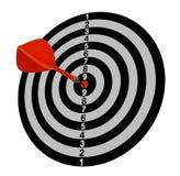 στόχος Στόχος Πλήρης-1 Κόκκινα βέλη στο κέντρο γκρίζος τόνος ελεύθερη απεικόνιση δικαιώματος