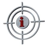 στόχος πληροφοριών Στοκ εικόνες με δικαίωμα ελεύθερης χρήσης