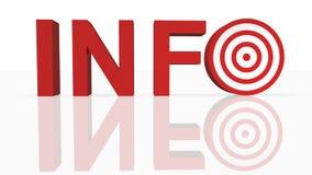 στόχος πληροφοριών Στοκ φωτογραφία με δικαίωμα ελεύθερης χρήσης