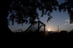 Στόχος ποδοσφαίρου σκιαγραφιών Στοκ Εικόνες