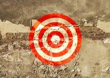 Στόχος που χρωματίζεται στον τοίχο Στοκ φωτογραφίες με δικαίωμα ελεύθερης χρήσης
