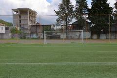Στόχος ποδοσφαίρου ποδοσφαίρου Στοκ φωτογραφίες με δικαίωμα ελεύθερης χρήσης