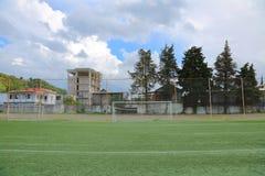 Στόχος ποδοσφαίρου ποδοσφαίρου Στοκ Εικόνες