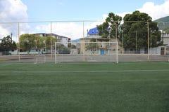 Στόχος ποδοσφαίρου ποδοσφαίρου Στοκ εικόνες με δικαίωμα ελεύθερης χρήσης