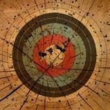 στόχος πυροβόλων όπλων ανασκόπησης grunge διανυσματική απεικόνιση