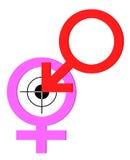 στόχος συμβόλων φύλων αγάπης Στοκ εικόνα με δικαίωμα ελεύθερης χρήσης