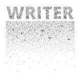 συγγραφέας Οι αφηρημένες επιστολές δημιουργούν ένα υπόβαθρο και μια λέξη Απεικόνιση αποθεμάτων
