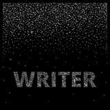 συγγραφέας Οι αφηρημένες επιστολές δημιουργούν ένα υπόβαθρο και μια λέξη Στοκ Εικόνα