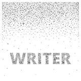 συγγραφέας Οι αφηρημένες επιστολές δημιουργούν ένα υπόβαθρο και μια λέξη Διανυσματική απεικόνιση