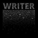 συγγραφέας Οι αφηρημένες επιστολές δημιουργούν ένα υπόβαθρο και μια λέξη Ελεύθερη απεικόνιση δικαιώματος