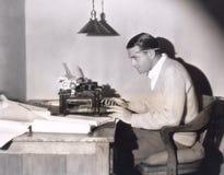 Συγγραφέας στην εργασία Στοκ Εικόνα