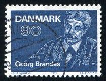 Συγγραφέας του Georg Brandes και λογοτεχνικός κριτικός στοκ εικόνα με δικαίωμα ελεύθερης χρήσης