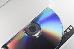 Συγγραφέας DVD με DVD Στοκ Φωτογραφία
