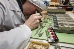 Συγκέντρωση του μηχανικού ρολογιού Στοκ Φωτογραφία