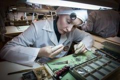 Συγκέντρωση του μηχανικού ρολογιού Στοκ φωτογραφία με δικαίωμα ελεύθερης χρήσης