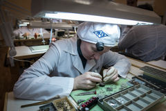 Συγκέντρωση του μηχανικού ρολογιού Στοκ φωτογραφίες με δικαίωμα ελεύθερης χρήσης