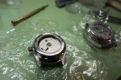 Συγκέντρωση του μηχανικού ρολογιού Στοκ Εικόνες
