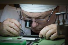 Συγκέντρωση του μηχανικού ρολογιού Στοκ εικόνα με δικαίωμα ελεύθερης χρήσης