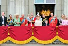 Συγκέντρωση του μπαλκονιού 2015 του Buckingham Palace χρώματος Στοκ Εικόνα