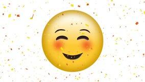 Συγκίνηση χαμόγελου με το emoji ματιών στραβισμού ελεύθερη απεικόνιση δικαιώματος