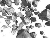 Συγκεκριμένες πέτρες βράχου που αφορούν το άσπρο υπόβαθρο διανυσματική απεικόνιση
