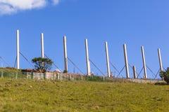 Συγκεκριμένες στήλες κατασκευής Στοκ εικόνα με δικαίωμα ελεύθερης χρήσης