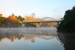Συγκεκριμένη γέφυρα αψίδων Fairfield, Χάμιλτον, Νέα Ζηλανδία Στοκ Εικόνα