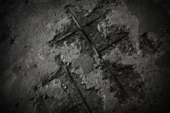 συγκεκριμένη γκρίζα παλ&alph Στοκ Εικόνες