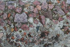 συγκεκριμένη γκρίζα σύστ&alp Σκυρόδεμα γρανίτη Μετωπική εικόνα Στοκ εικόνες με δικαίωμα ελεύθερης χρήσης