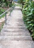 Συγκεκριμένη σκάλα στο μικρό λιμένα Στοκ εικόνες με δικαίωμα ελεύθερης χρήσης