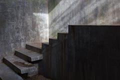 Συγκεκριμένη σκάλα τσιμέντου Στοκ εικόνες με δικαίωμα ελεύθερης χρήσης
