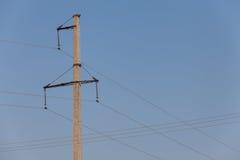 Συγκεκριμένος ηλεκτρικός πόλος στον τομέα Στοκ Εικόνα