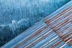 Συγκεκριμένος και ζαρωμένος σίδηρος Στοκ Φωτογραφία