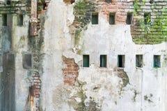 συγκεκριμένος ραγισμένος εκλεκτής ποιότητας τοίχος ανασκόπησης Στοκ φωτογραφία με δικαίωμα ελεύθερης χρήσης