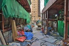 συγκεκριμένο κτήριο κάτω από την οικοδόμηση tai hag HK Στοκ Εικόνα
