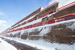 Συγκεκριμένο νεωτεριστικό κτήριο Στοκ Εικόνες