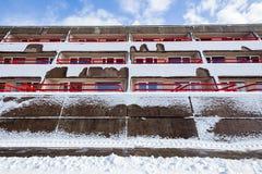 Συγκεκριμένο νεωτεριστικό κτήριο Στοκ εικόνα με δικαίωμα ελεύθερης χρήσης